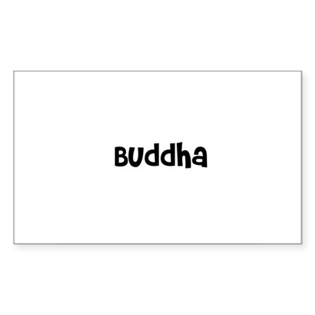Buddha Rectangle Sticker