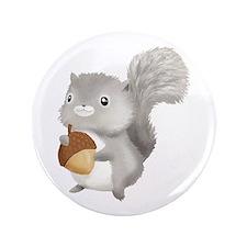 """Cute Squirrel 3.5"""" Button"""