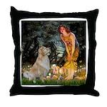 MidEve-Golden 11 Throw Pillow