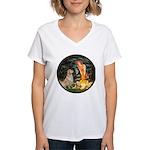 MidEve-Golden 11 Women's V-Neck T-Shirt