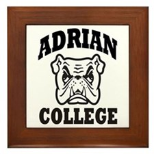 adrian college bulldog wear Framed Tile