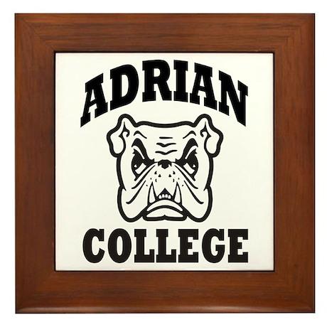 adrian college bulldog wear Framed Tile