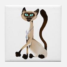 Big Siamese Kitty Tile Coaster