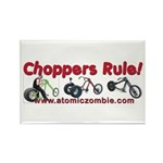 Choppers Rule Rectangle Magnet