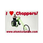 I Love Choppers Rectangle Magnet