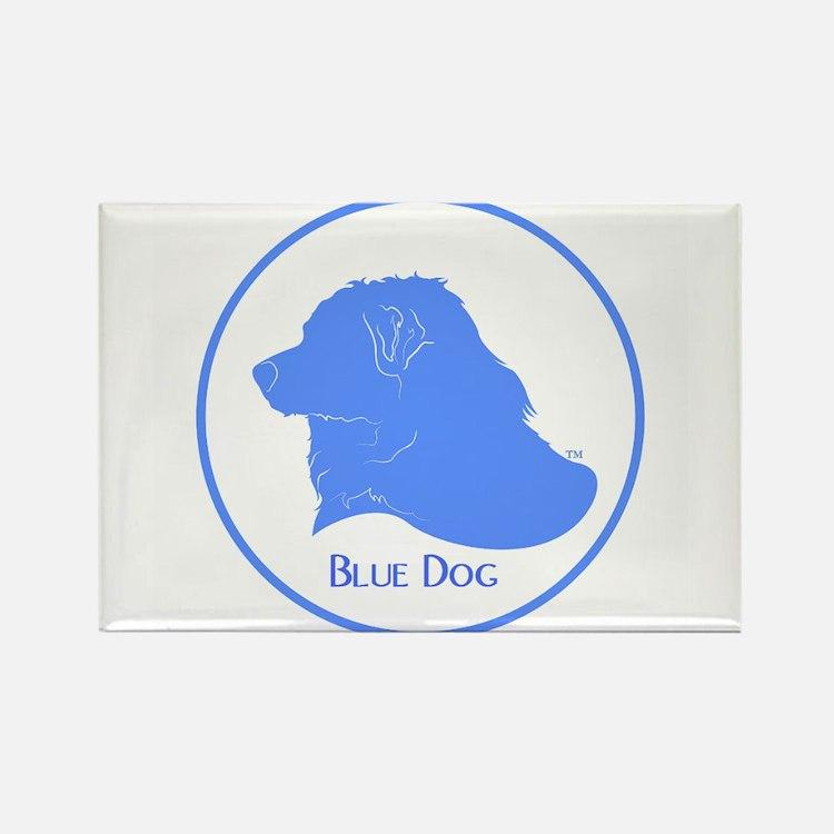 Blue Dog Logo Rectangle Magnet