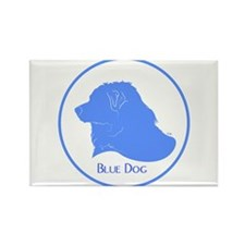 Blue Dog Logo Rectangle Magnet (10 pack)