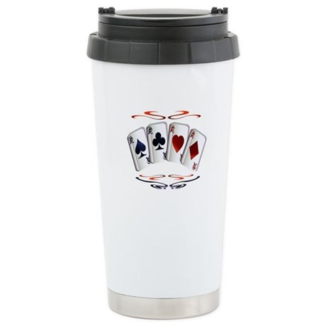 Aces with design Stainless Steel Travel Mug