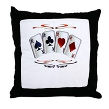 Aces with design Throw Pillow