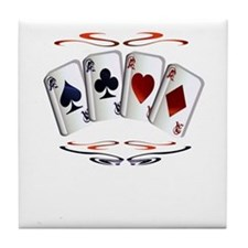 Aces with design Tile Coaster
