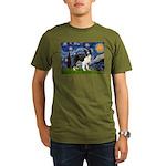 Starry / Border Collie (Z) Organic Men's T-Shirt (