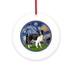 Starry / Border Collie (Z) Ornament (Round)