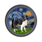 Starry / Border Collie (Z) Wall Clock