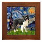 Starry / Border Collie (Z) Framed Tile