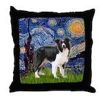 Starry / Border Collie (Z) Throw Pillow