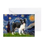Starry / Border Collie (Z) Greeting Cards (Pk of 1