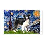 Starry / Border Collie (Z) Sticker (Rectangle 10 p