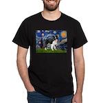 Starry / Border Collie (Z) Dark T-Shirt