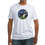 Starry / Border Collie (Z) Fitted T-Shirt