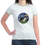 Starry / Border Collie (Z) Jr. Ringer T-Shirt