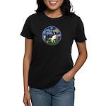 Starry / Border Collie (Z) Women's Dark T-Shirt