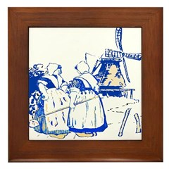 Blue Dutch Framed Tile