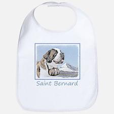 Saint Bernard Cotton Baby Bib