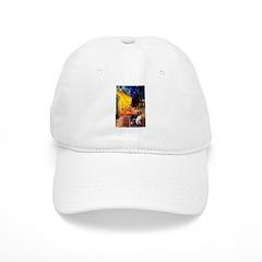 Cafe / Border Collie (Z) Baseball Cap