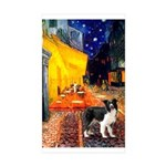 Cafe / Border Collie (Z) Sticker (Rectangle 50 pk)