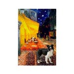 Cafe / Border Collie (Z) Rectangle Magnet (10 pack