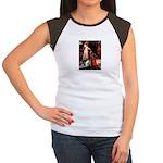 Accolade/Border Collie (Z) Women's Cap Sleeve T-Sh