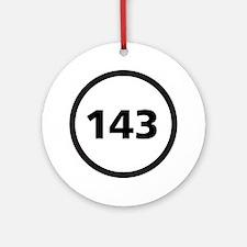 143 - I Love You Ornament (Round)