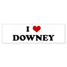 I Love DOWNEY Bumper Bumper Sticker