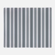 Shades of Gray Vertical Stripes Throw Blanket