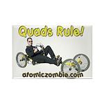 Quads Rule Rectangle Magnet