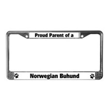 Proud: Norwegian Buhund  License Plate Frame