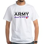 United States Army Mother White T-Shirt