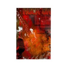 Rock On Guitar Hero! Rectangle Magnet