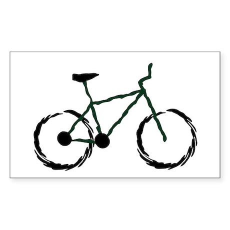 Mountain Bike Rectangle Sticker