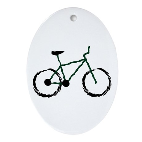 Mountain Bike Oval Ornament
