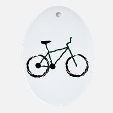 Mountain Bike Oval Ornament