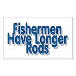 I Fish Rectangle Sticker