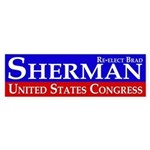 Re-Elect Brad Sherman Bumper Sticker