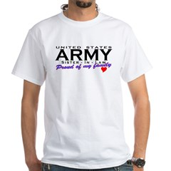 US Army Sister-In-Law White T-Shirt
