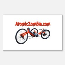 "Atomic Zombie Warrior Trike (Rectangle) 3"" x5"