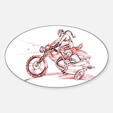 Motochick (oval sticker)
