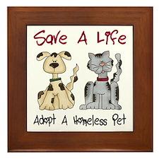 Adopt A Homeless Pet Framed Tile