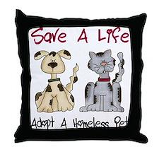 Adopt A Homeless Pet Throw Pillow