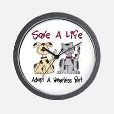 Adopt A Homeless Pet Wall Clock