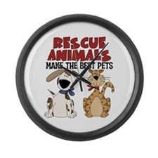 Rescue Animals Large Wall Clock